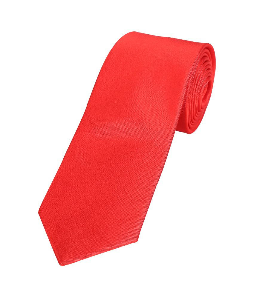 Park Avenue Red Silk Formal Narrow Tie