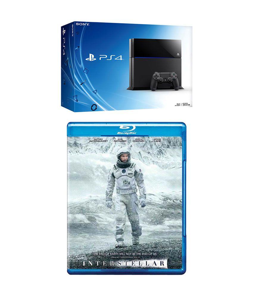 Sony Playstation 4 (PS4) with Interstellar Bluray