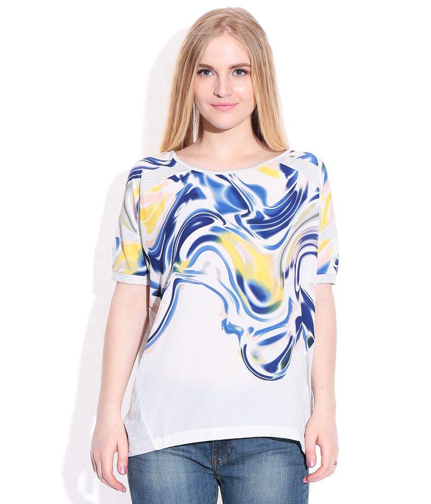 buy vero moda ghostwhite t shirt online at best prices in. Black Bedroom Furniture Sets. Home Design Ideas