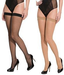 D Naked Multi Color Stockings Pack of 2