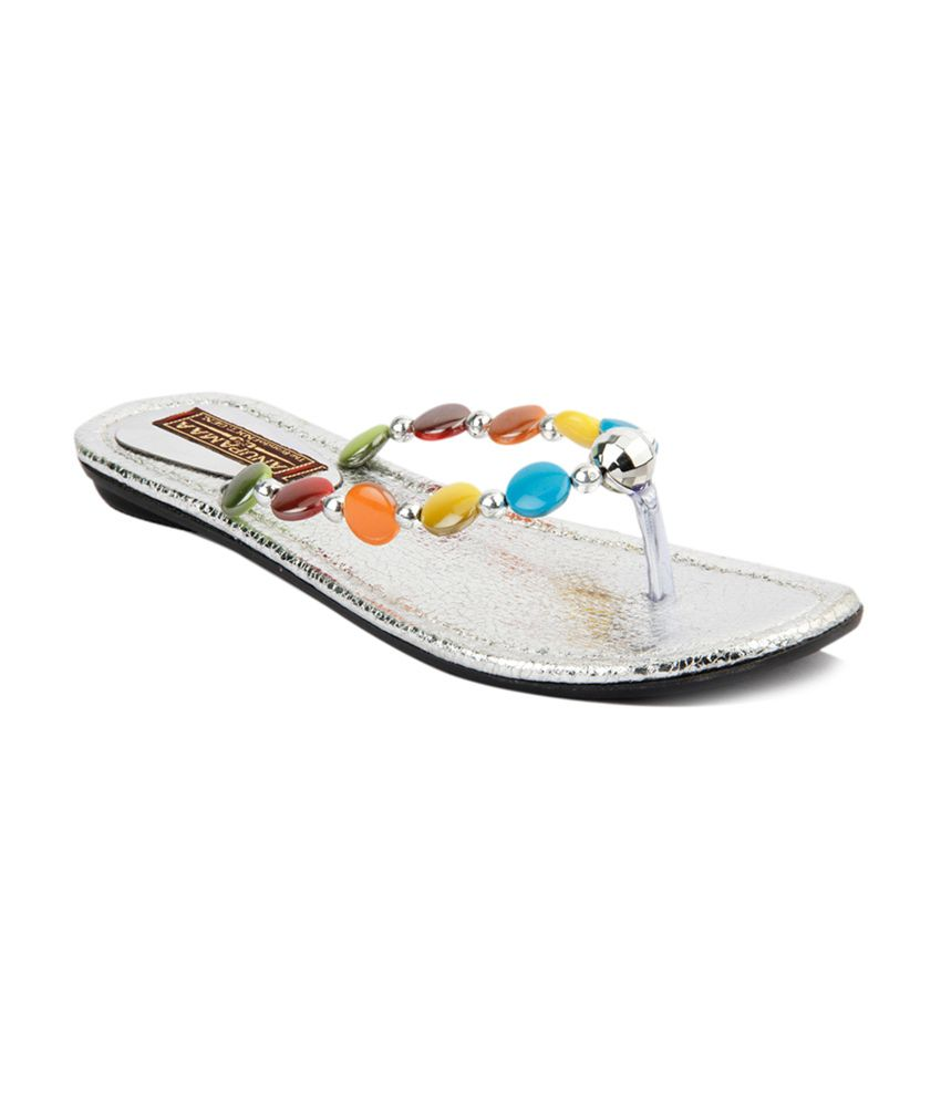 Anupamaa Multi Synthetic Flat Slippers