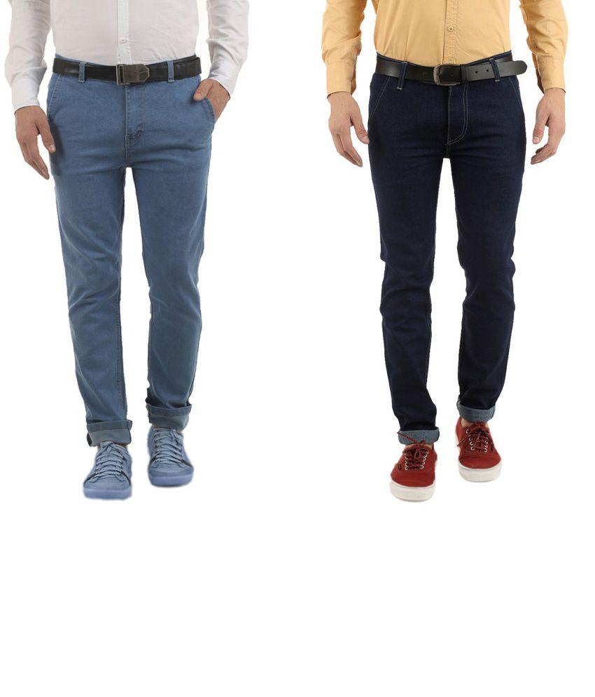 Western Texas 96 Cotton Blend Jeans For Men