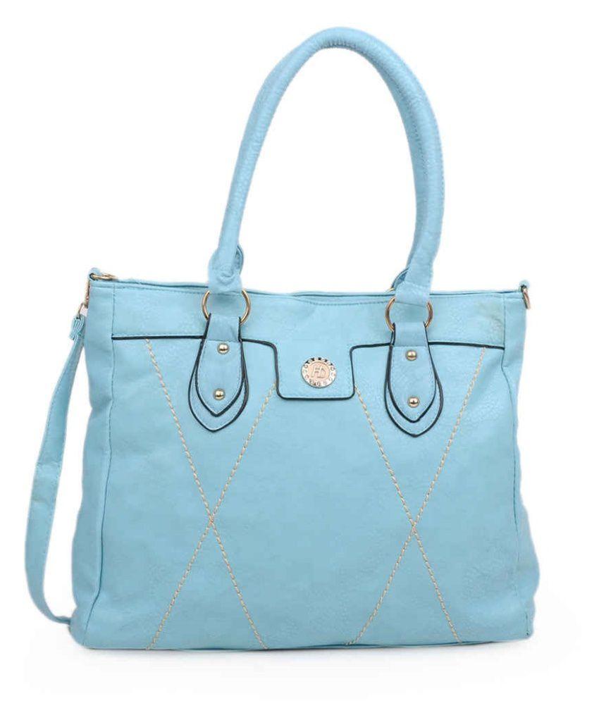 Adisa Blue P.U. Handbag For Women