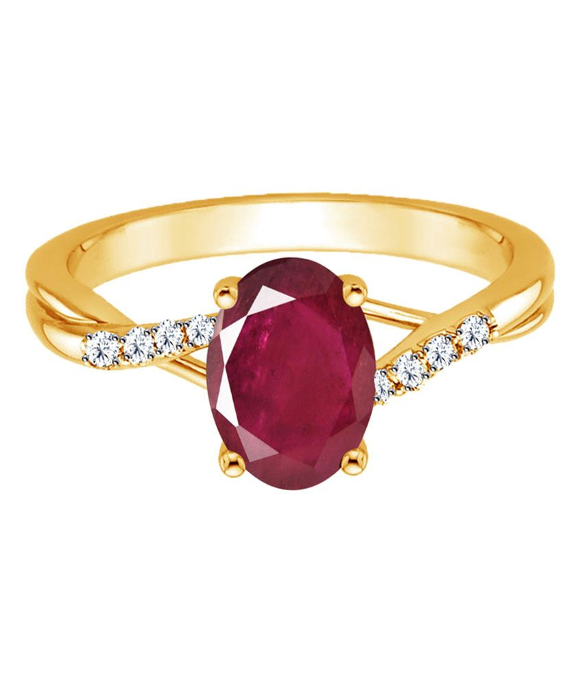 Jacknjewel 18kt Gold Ruby Contemporary Ring Buy