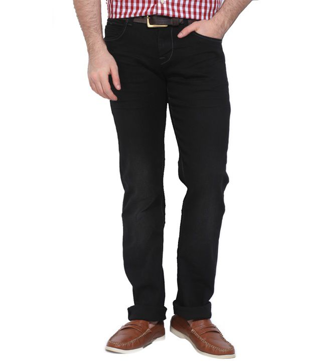 Killer Black Cotton Blend Slim Fit Jeans