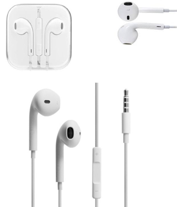 Buy Mobio White Wired Earphones For Iphone Online at Best