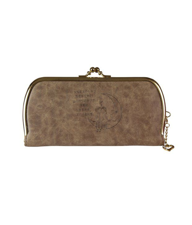 Top-zone Brown Non Leather Long Wallet For Women