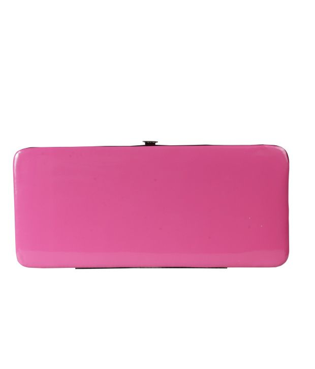 Top-zone Pink Non Leather Long Wallet For Women