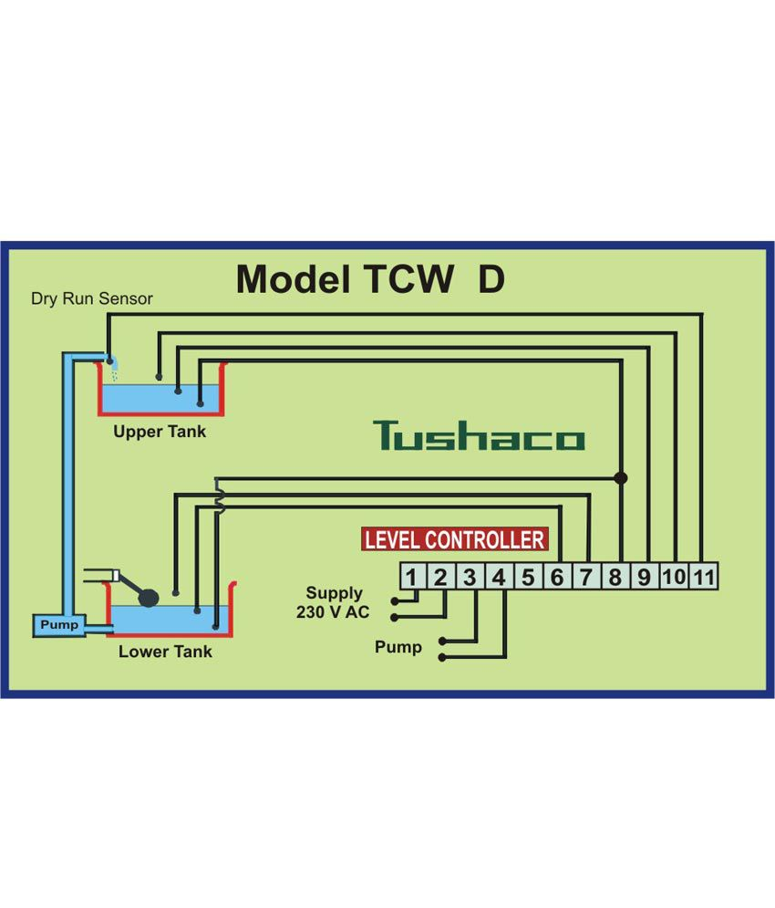 Buy Tushaco Automatic Water Level Controller With Dry Run Protection Sensor Wiring Diagram