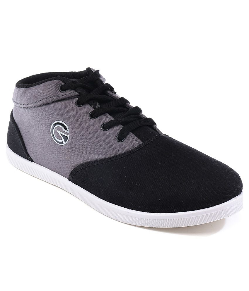Globalite Core lifestyle sneakers Black Grey Men Casual Shoes
