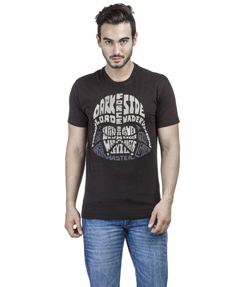 Disney Star Wars Attractive Black Graphic T-shirt For Men