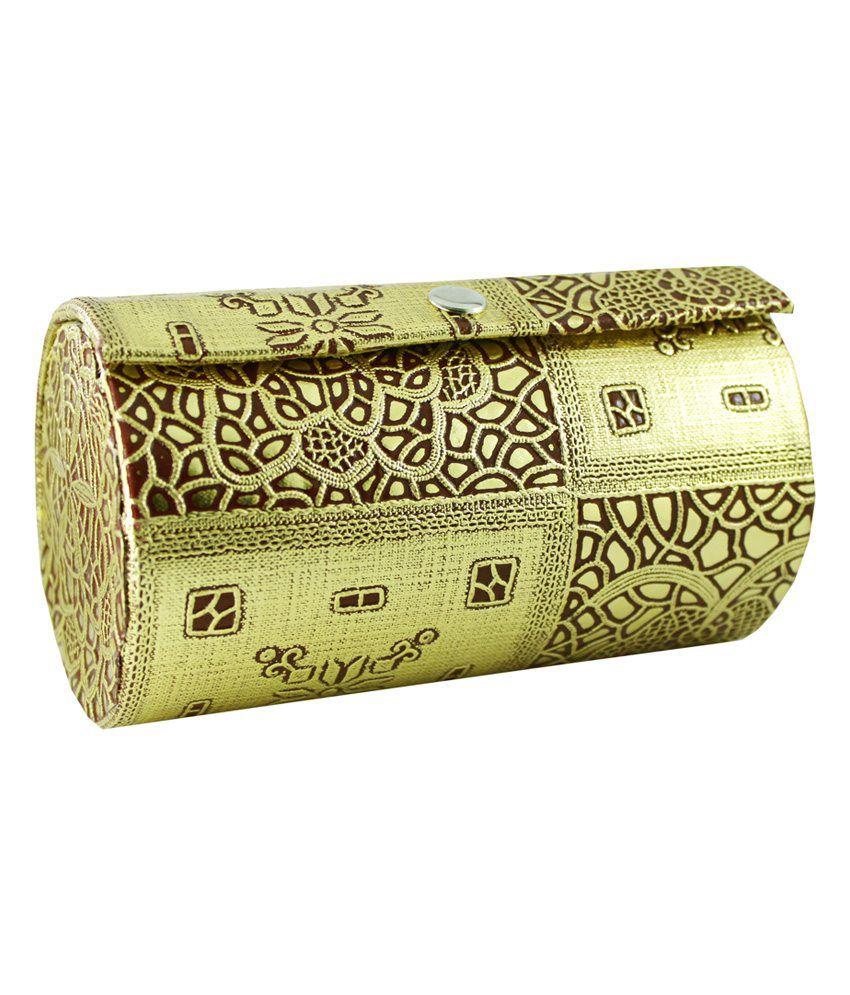 Ambica Golden Designer Round Bangle Box