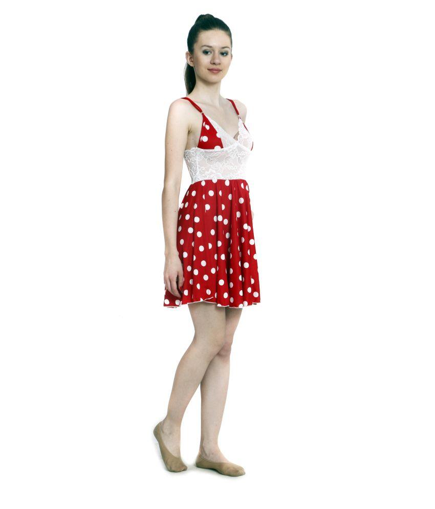 29a09453a4b Ellryza Red Short Babydoll Nightwear Dress Ellryza Red Short Babydoll  Nightwear Dress ...