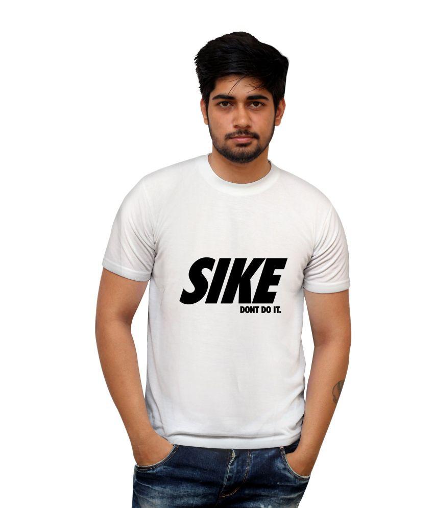 Posterguy White Cotton Blend Half T-shirt For Men