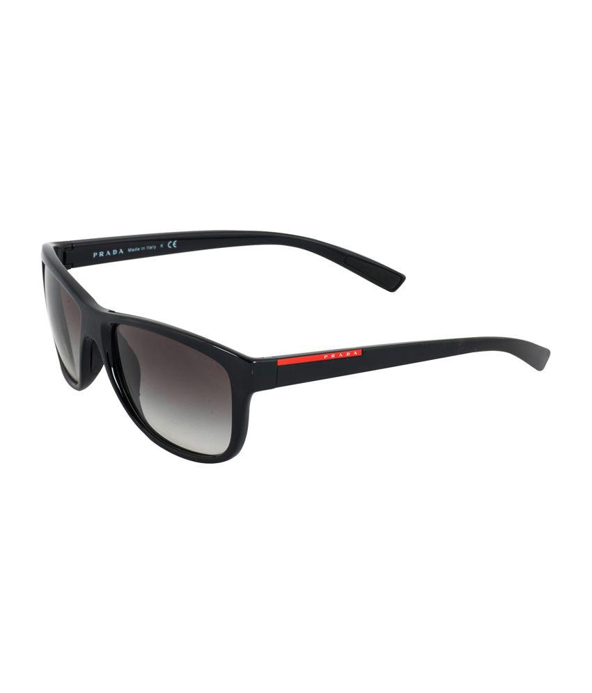 prada gray black wayfarer sunglasses ps05ps 1ab 0a7 58