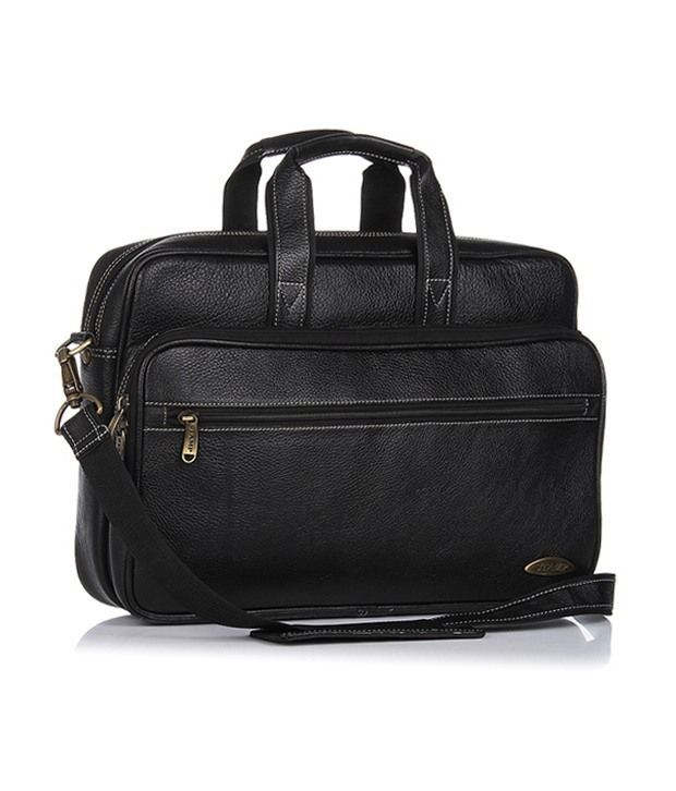 Stamp Brown Leather Magnificent Laptop Bag
