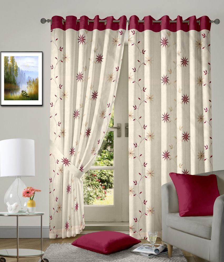 vorhang single window eyelet curtain floral beige buy