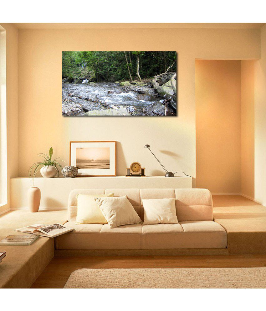 999Store Forest River Printed Modern Wall Art Painting - Large Size