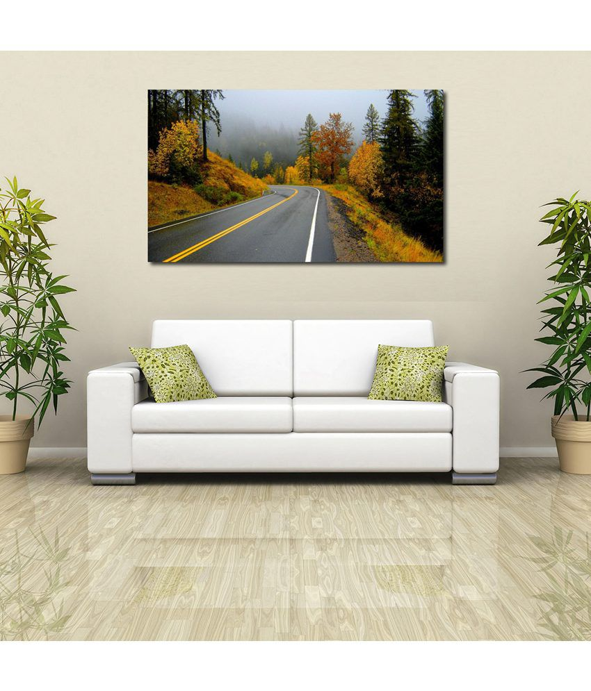 999Store Hill Road View Printed Modern Wall Art Painting - Large Size