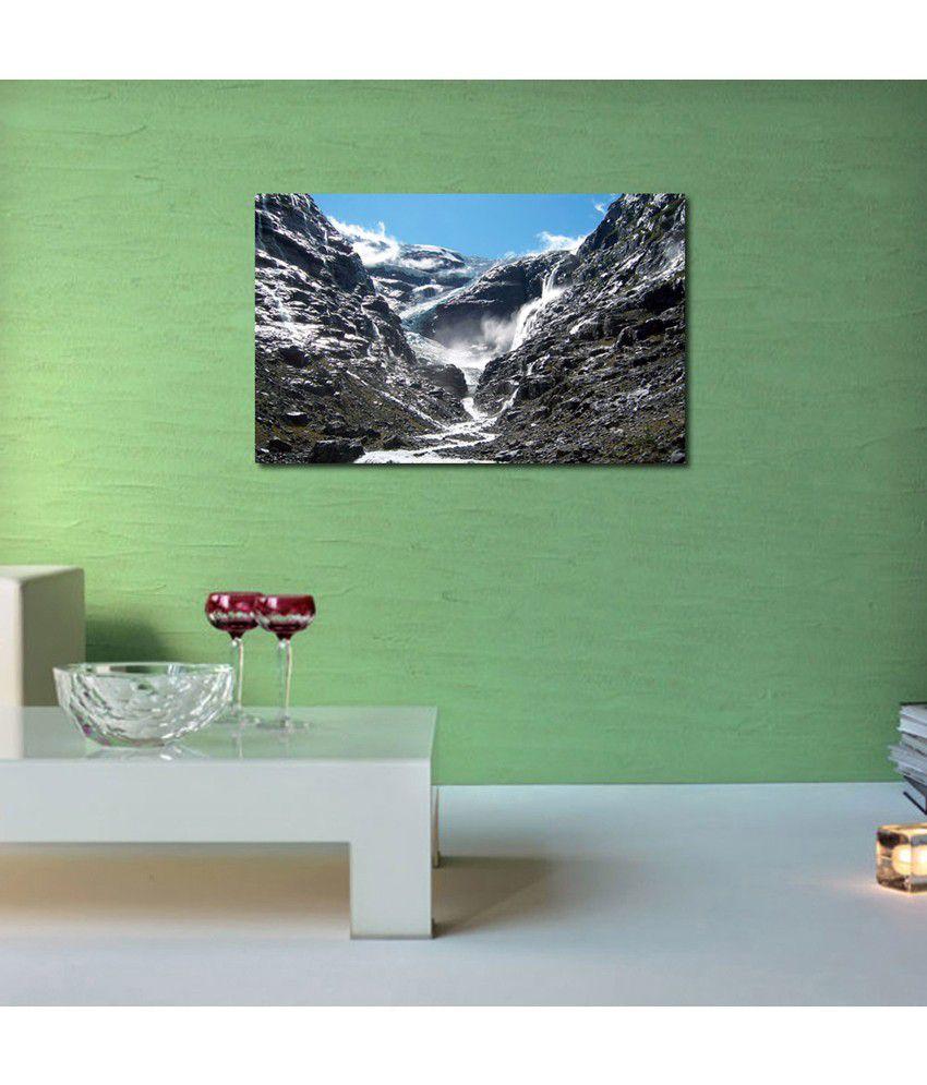 999Store Mountain Waterfall Mount Printed Modern Wall Art Painting - Large Size