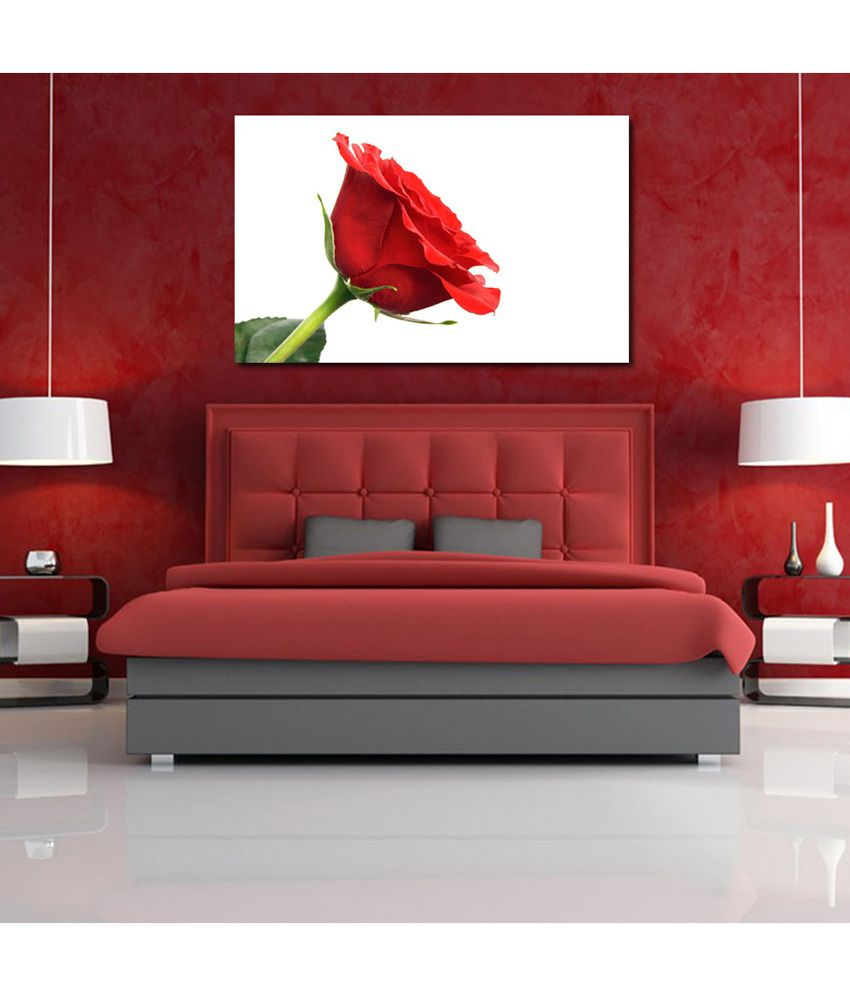 999Store Rose Flower Printed Modern Wall Art Painting - Large Size