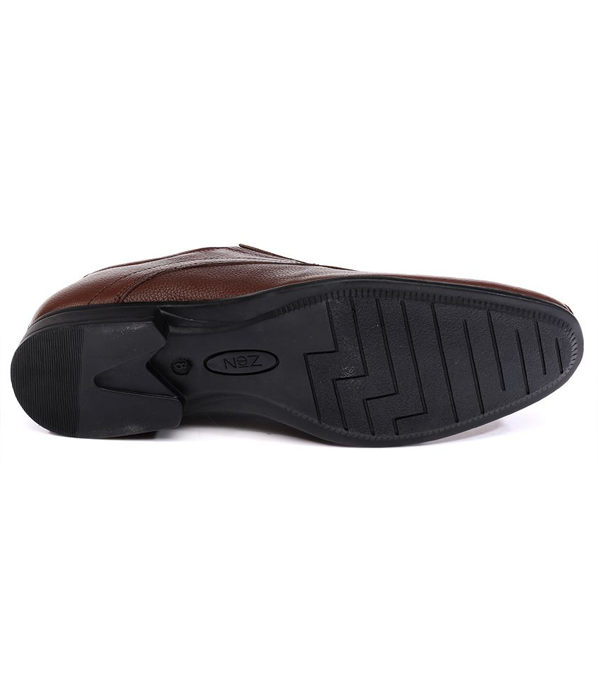 b245a8aa7930 Nez by Samsonite Brown Formal Shoes Price in India- Buy Nez by ...