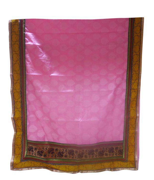 Banaras Silk Estate Multi Color Georgette Chanderi Boota Saree