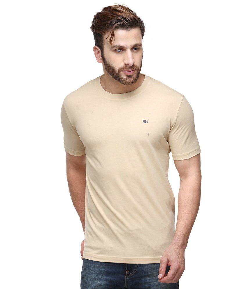 Dazzgear Combo of Beige Round Neck T-Shirts