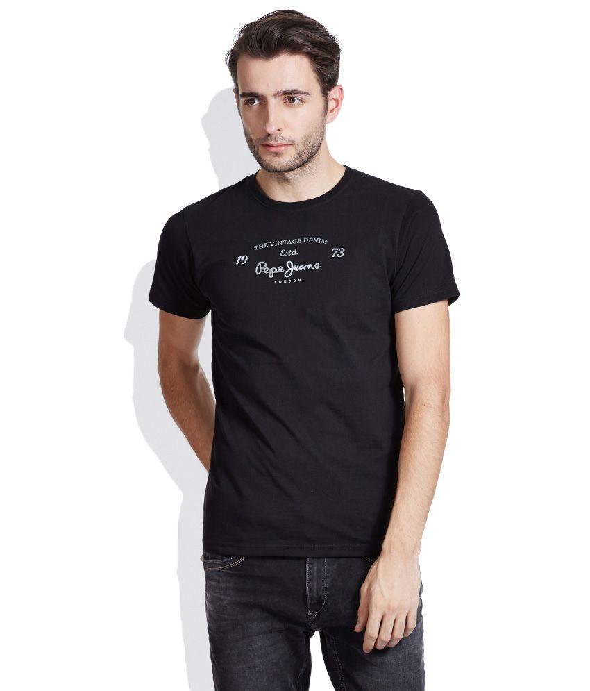 Pepe Jeans Black Round Neck T-Shirt