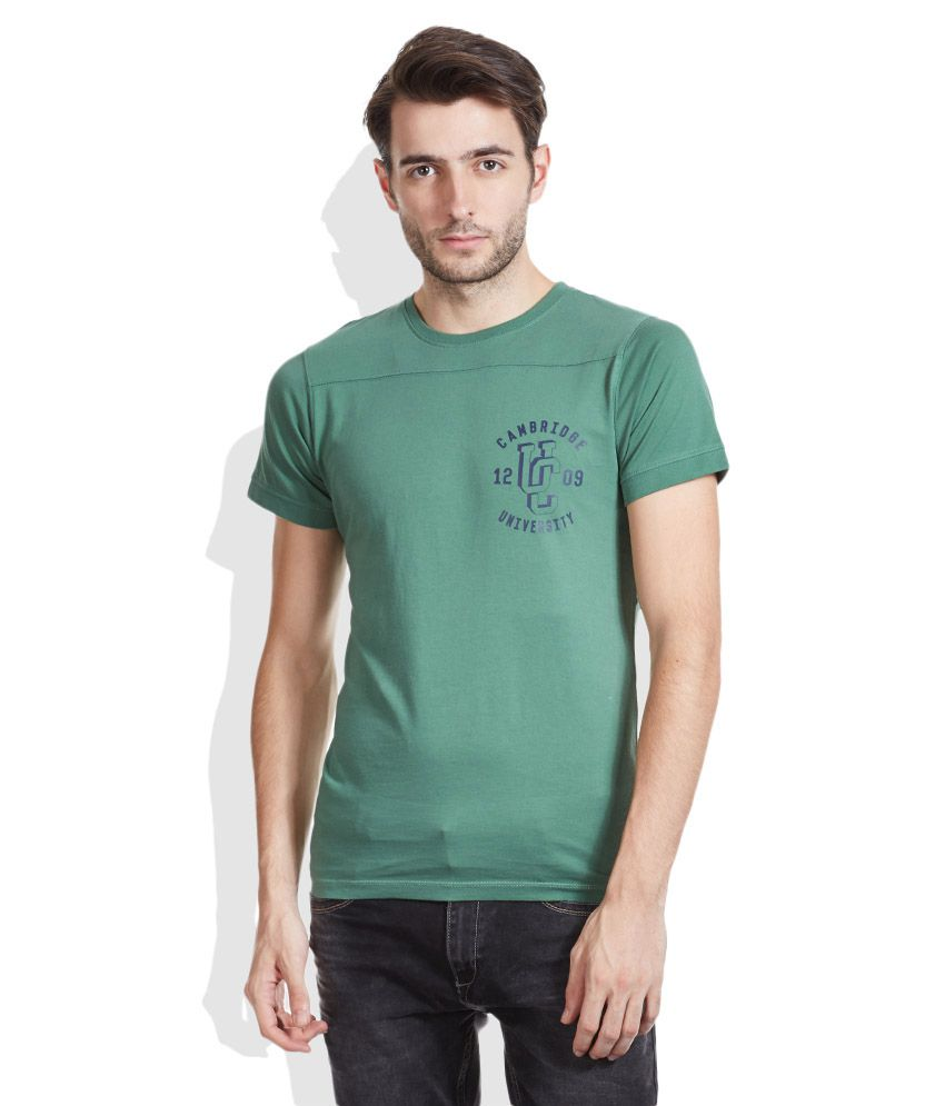 Pepe Jeans Green Round Neck T-Shirt