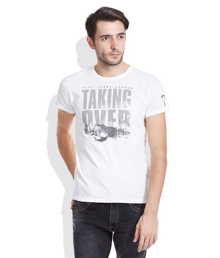 Pepe Jeans White Round Neck T-Shirt