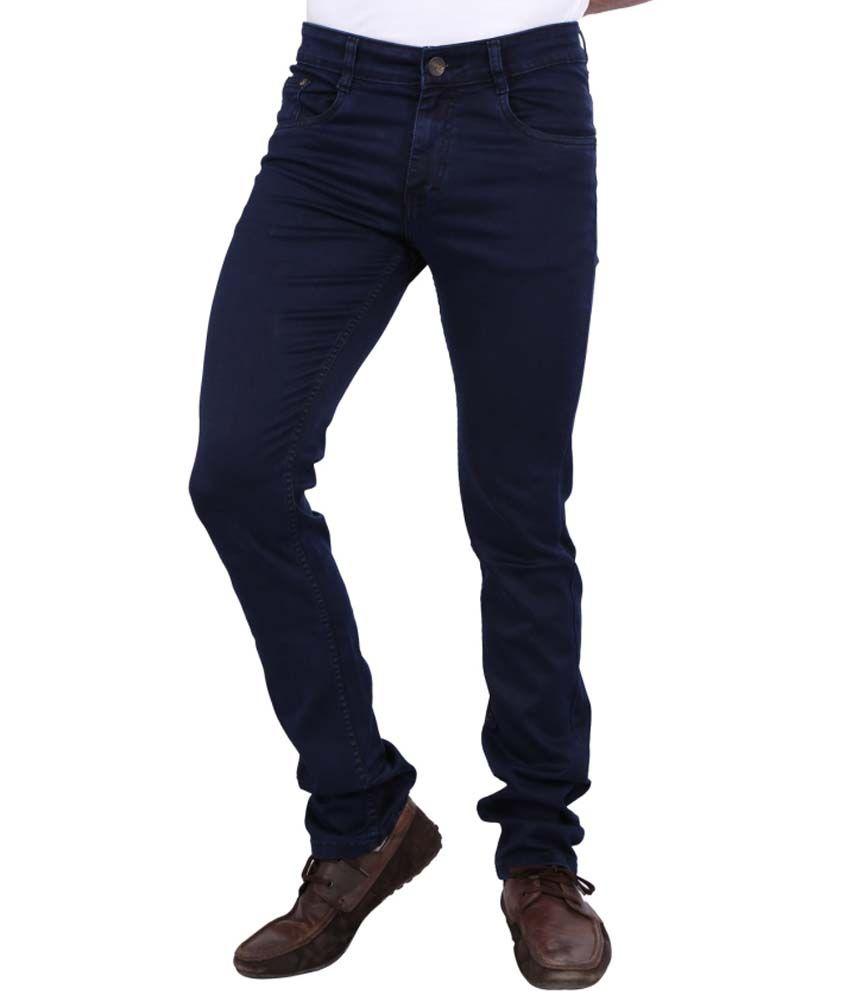 Awack Killer-Blue Coloured Cotton-Silky Regular Fit Authentic Men's Denim