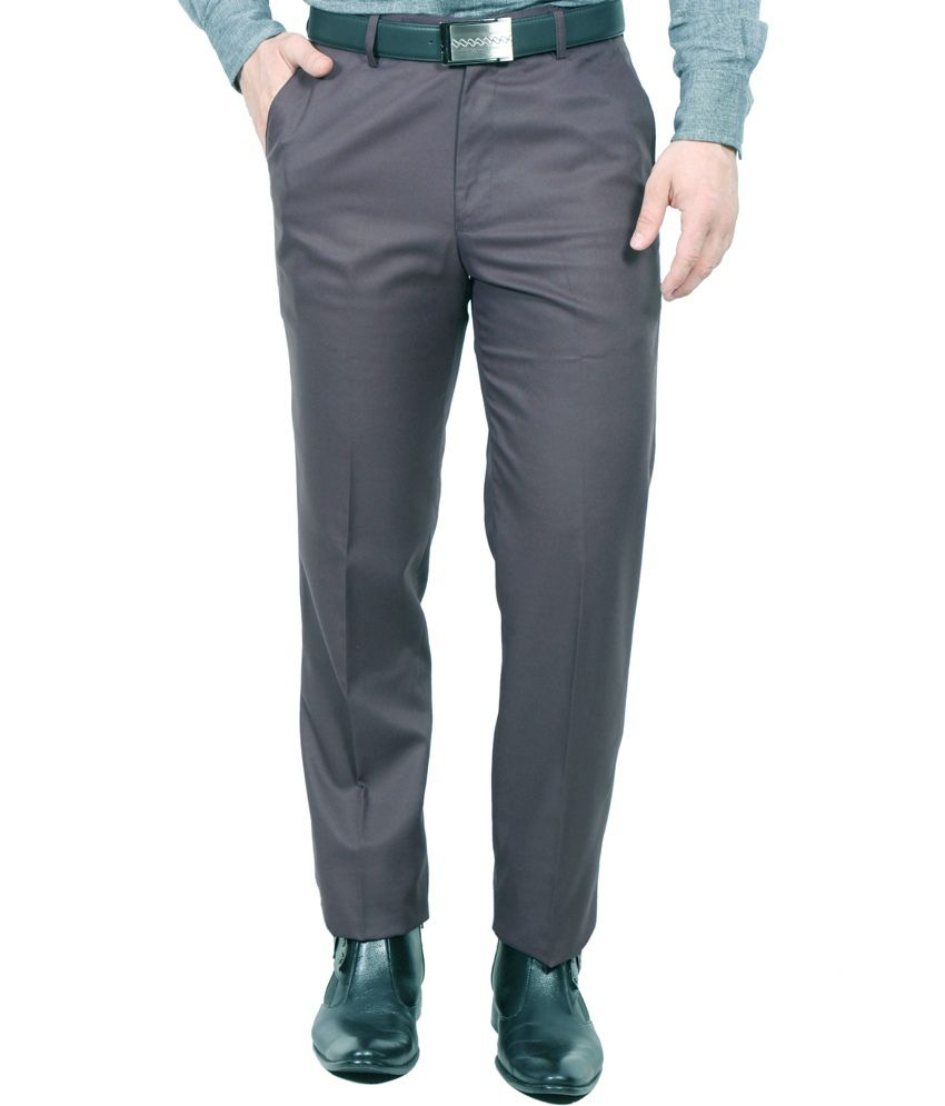 Jhon Diago Gray Semi-formal Tailored Fit Trouser