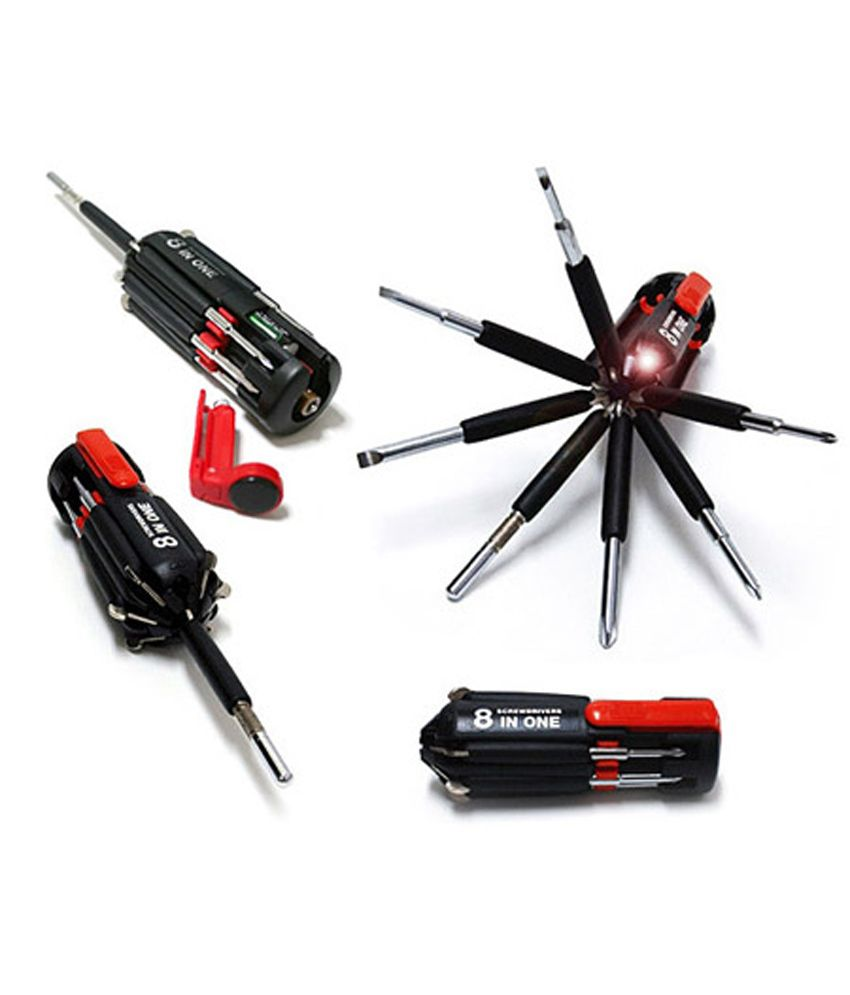 W 8 in 1 Screwdriver with 6 Bright LED lights