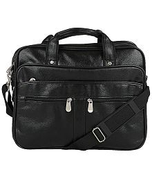 Knott Black P.U. Office Messenger Bag