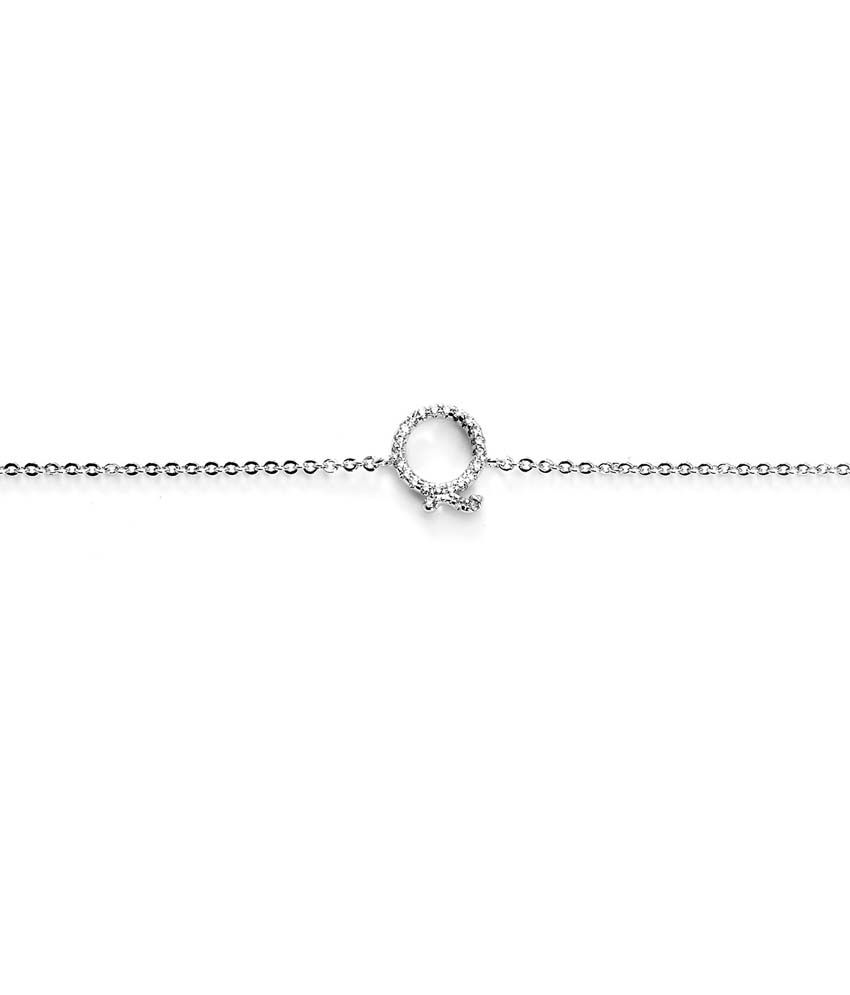 Blinglane Silver Copper Style Diva CZ Anklets