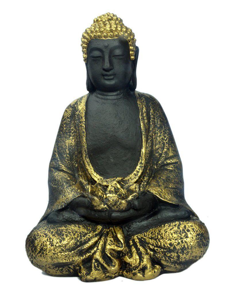 Earth Buddha Sitting Tlight Holder Idol