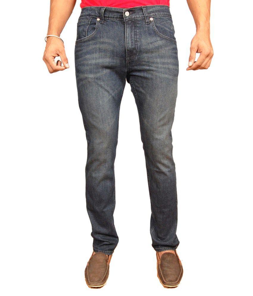 Levis 511 Slim Fit Lycra Faded Jeans Black Blue Color For Men