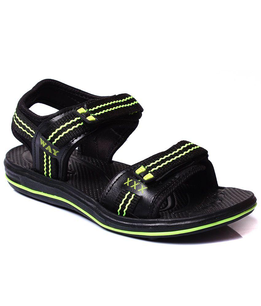 86bcde6811f16 Myrah Black   Green Angle Air Sandals For Kids Price in India- Buy Myrah  Black   Green Angle Air Sandals For Kids Online at Snapdeal