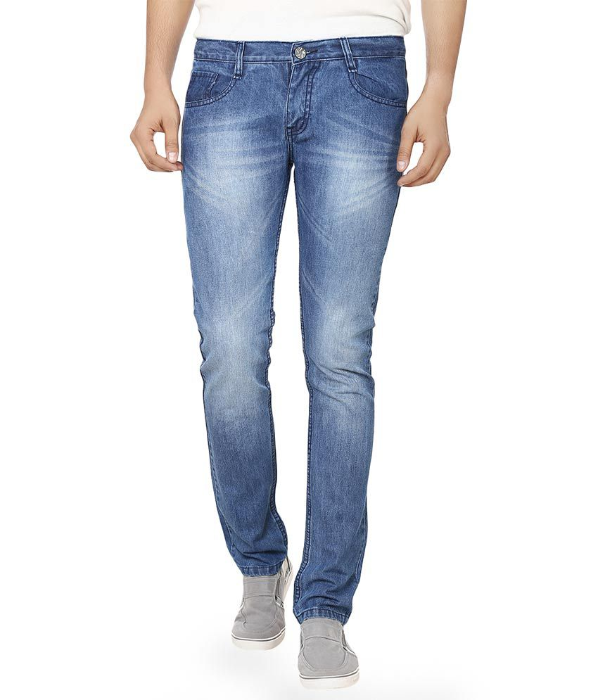 Alan woods Faded Blue Denim Jeans