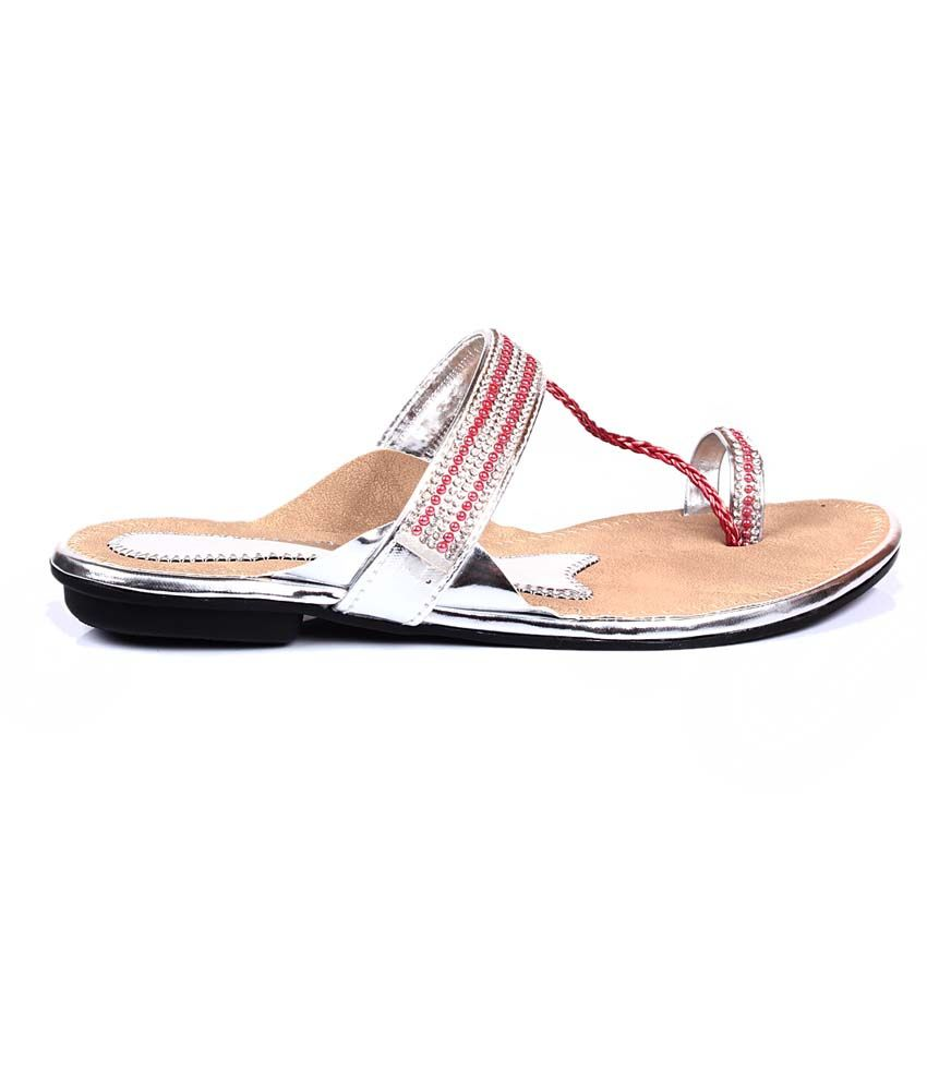 4e99aadf8 Bare Soles Silver Patent Open Toe Flat Sandals For Women Price in ...
