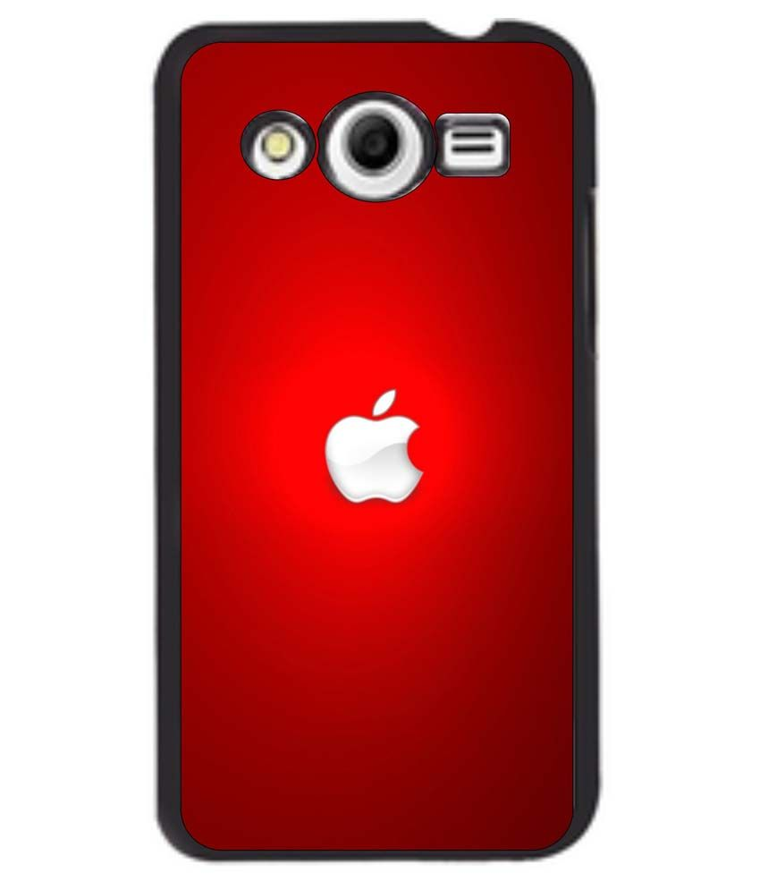 buy online dcba1 9d92e Dot Print Back Cover For Samsung Galaxy Core 2 Apple Logo Printed Case