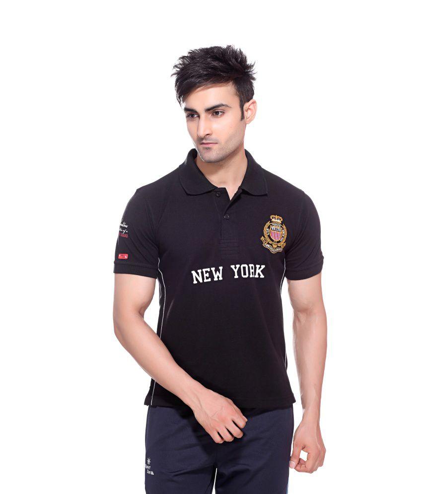 Sport Sun Sportswear Black Mattey New York Cotton T-Shirt
