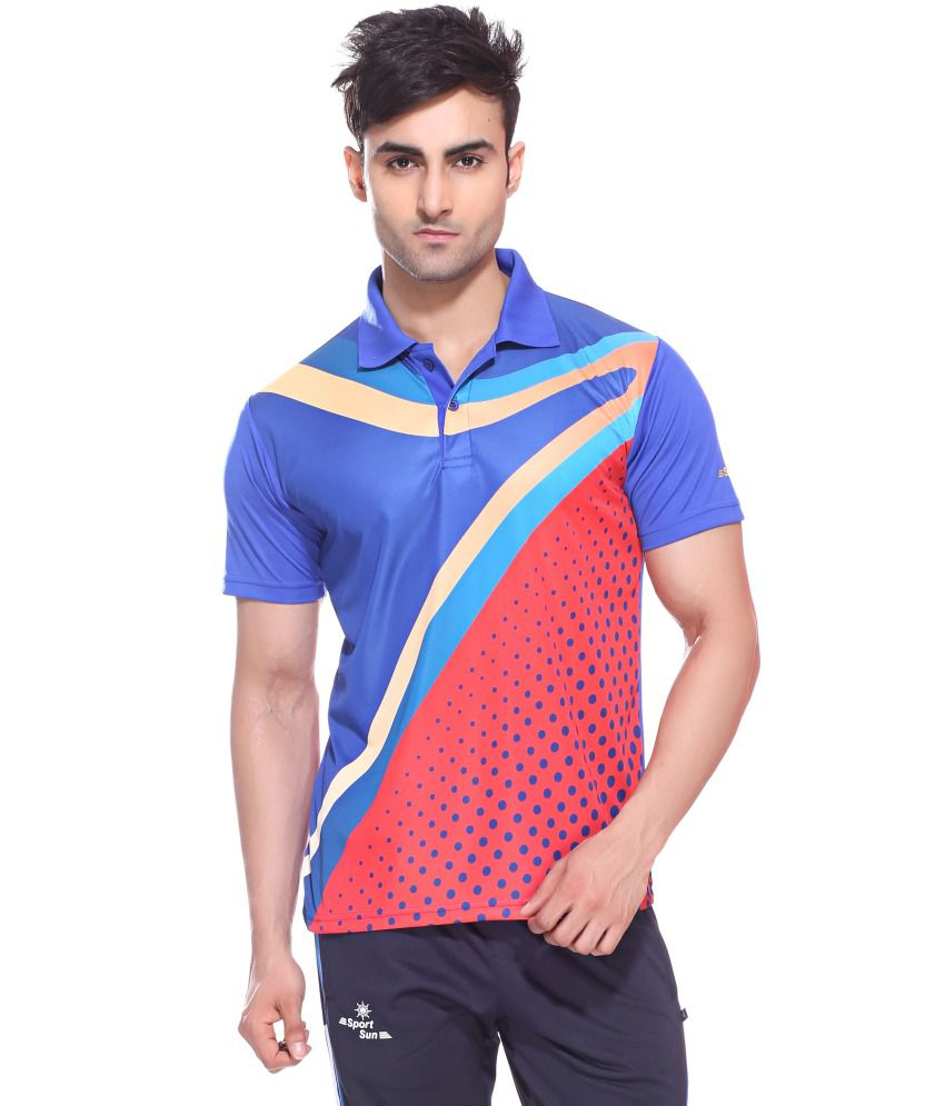 d05ee97f Sport Sun Sportswear Sublimation Print Royal Half Sports T-Shirt - Buy Sport  Sun Sportswear Sublimation Print Royal Half Sports T-Shirt Online at Best  ...