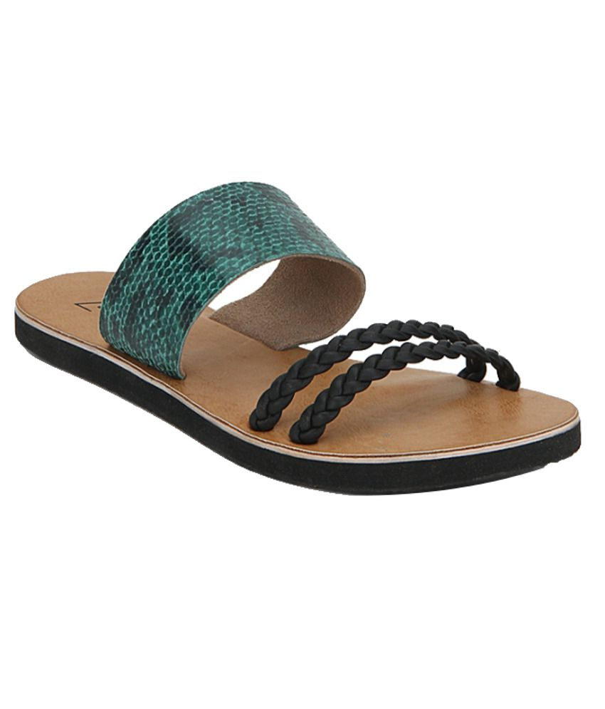 Zebba Sophisticated Turquoise Flats