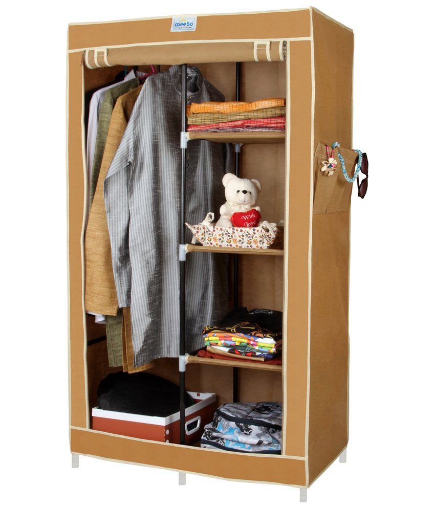 space saving folding furniture. CbeeSo Space Saving Folding Almirah With Heavy Metal Frame (CB220 Beige) Furniture I