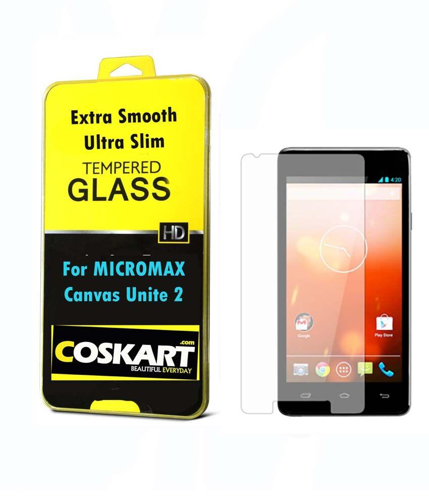 Micromax Unite 2 A106 Tempered AntiGlare Screen Guard by Coskart