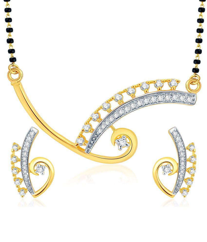 Sukkhi Antique Gold & Rhodium Plated CZ Mangalsutra Set