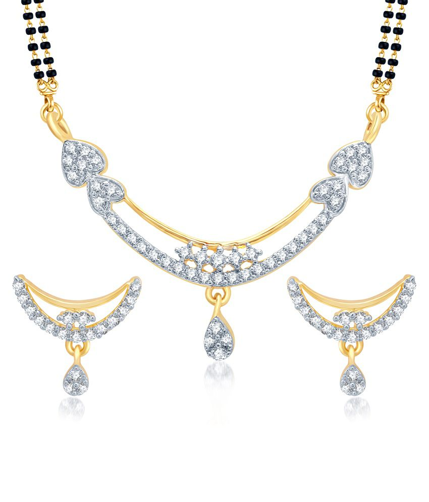 Sukkhi Classy Gold and Rhodium Plated Cubic Zirconia Stone Studded Mangalsutra Set (Mangalsutra Mala may vary from the actual image)