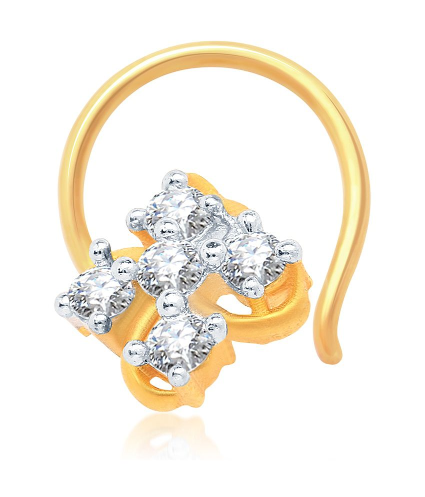 Sukkhi Eye-Catchy Gold and Rhodium Plated CZ Nose Pin